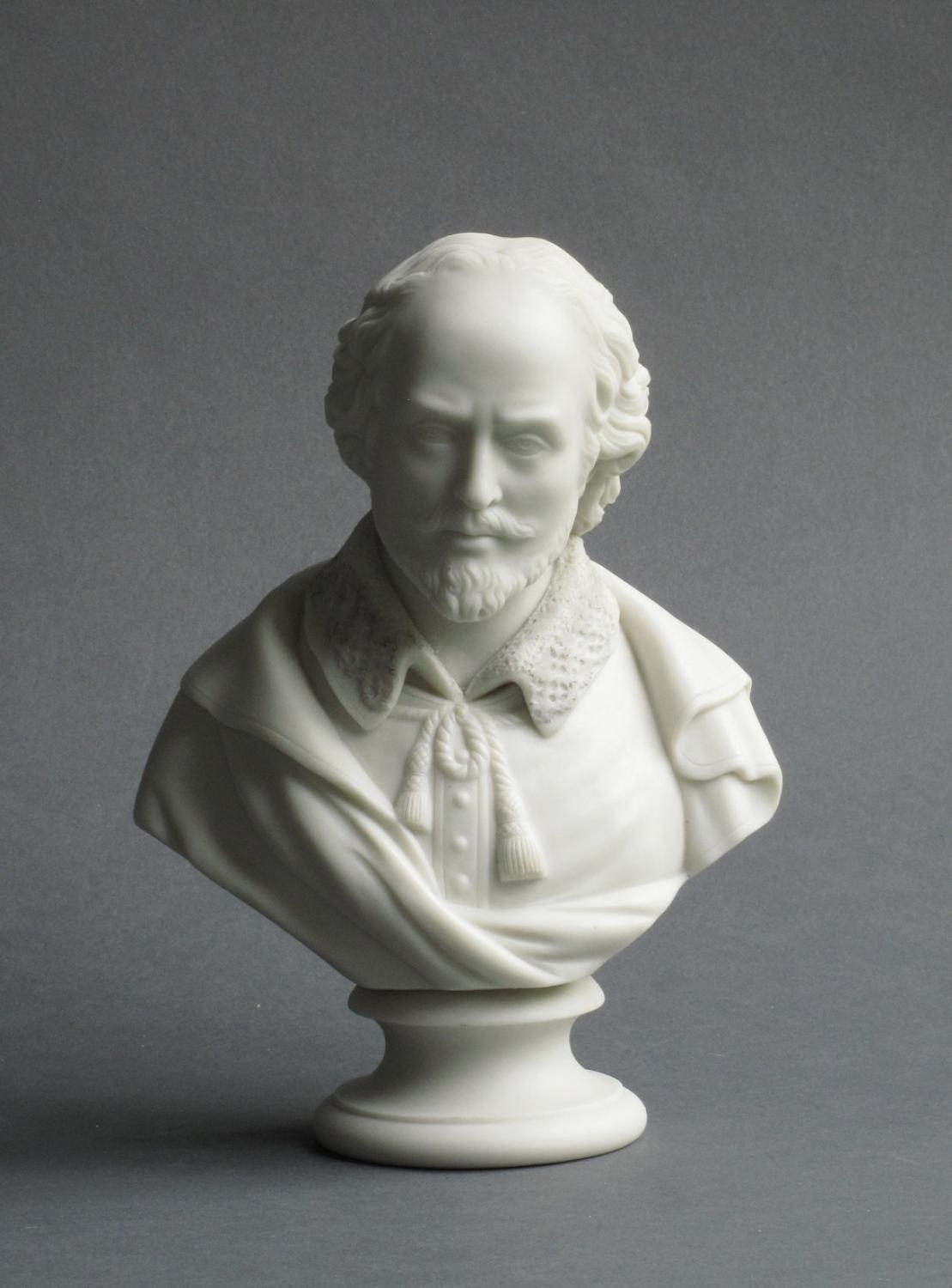 Copeland Parian bust of William Shakespeare