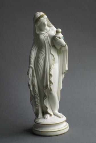 Parian figure of Phryne's companion