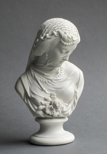 Robinson & Leadbeater bust of a veiled woman