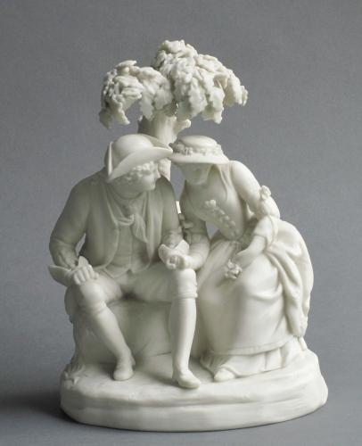 Copeland parian figure group 'Love Story'