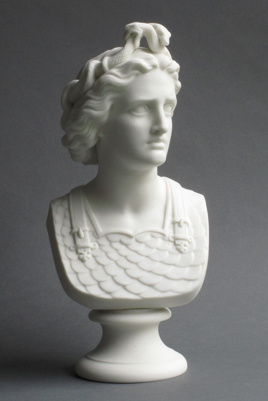 Worcester parian bust of War