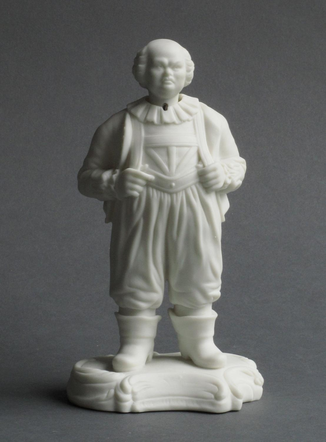 Minton nodding head parian figure of Frolich