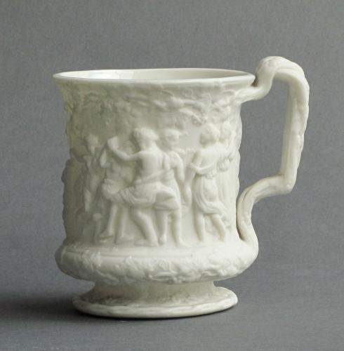 Parian Bacchanalian Dance mug Charles Meigh