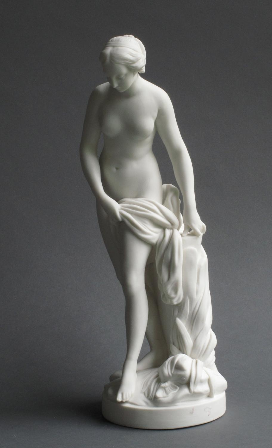 A Minton parian figure of Venus at bath