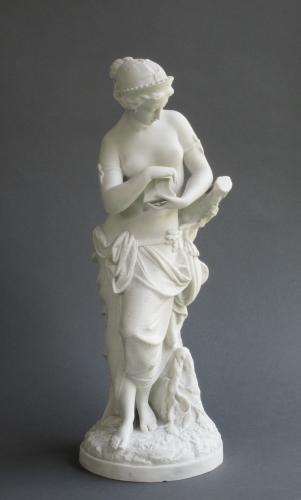 Minton parian figure of Pandora