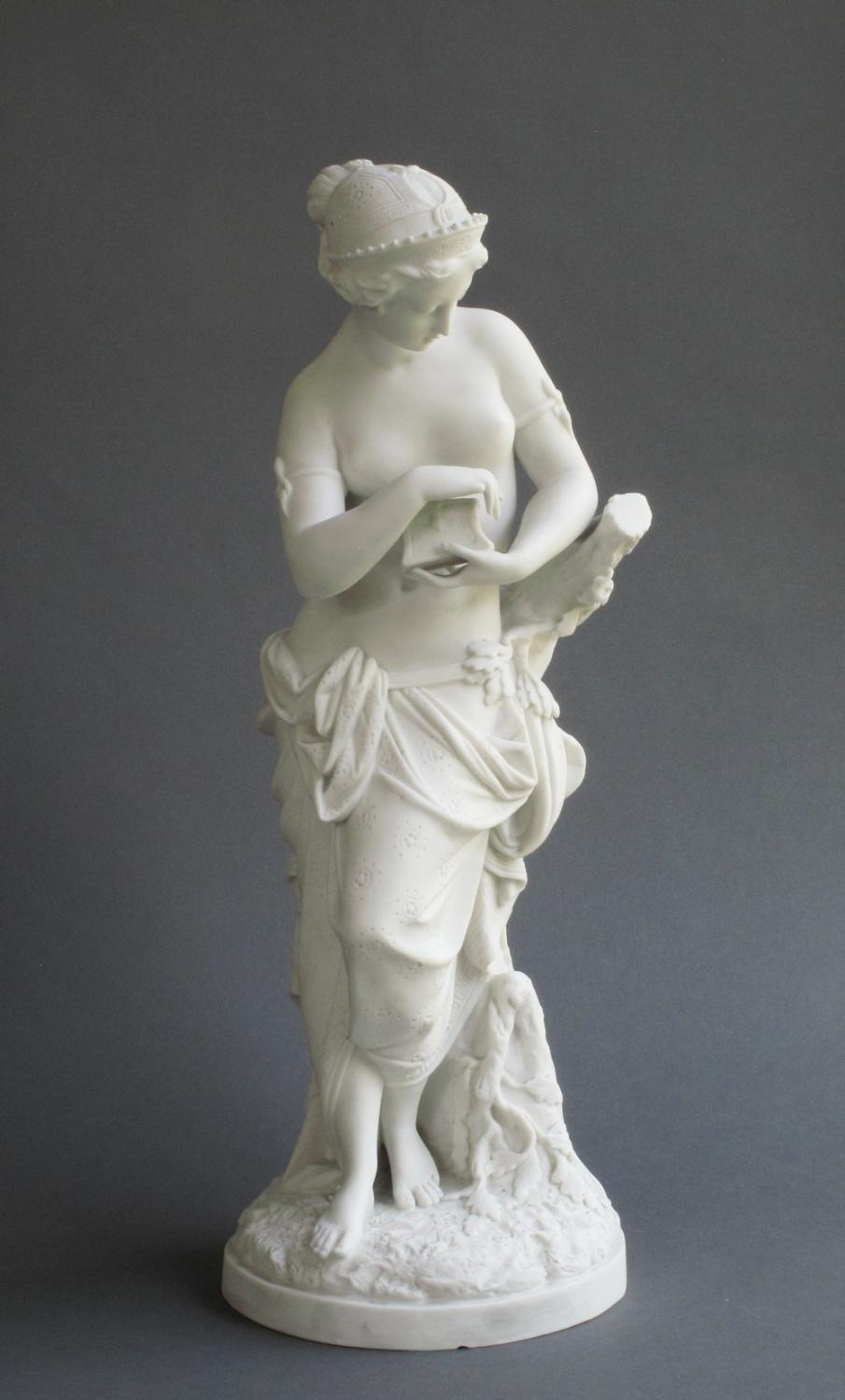 Minton parian figure of Pandora