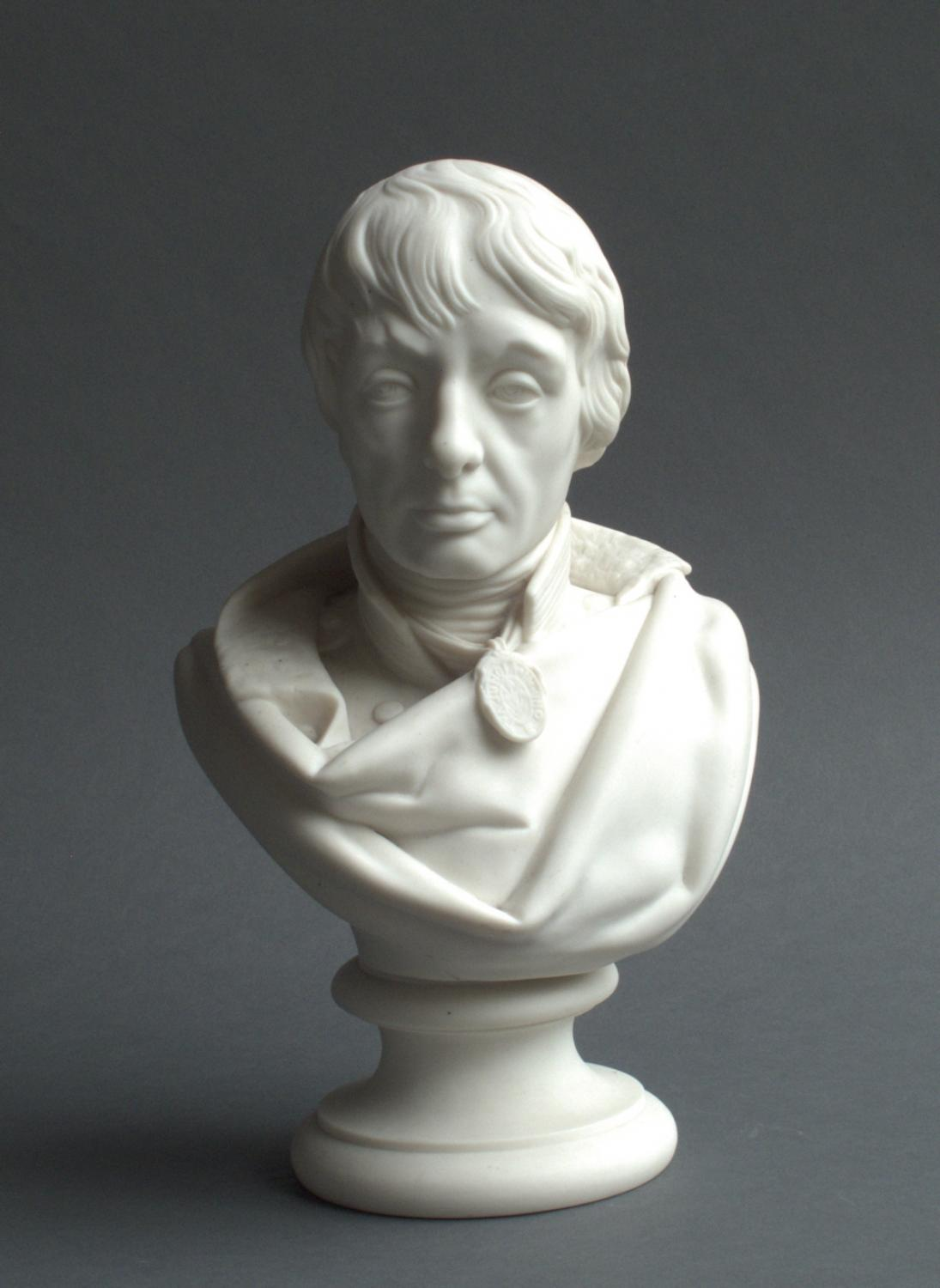 Parian bust of Admiral Horatio Nelson