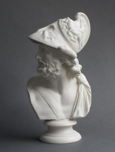 Parian bust of Ajax, possibly Worcester