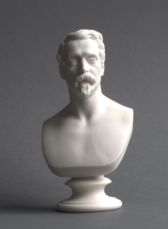 A Copeland parian bust of Napoleon III