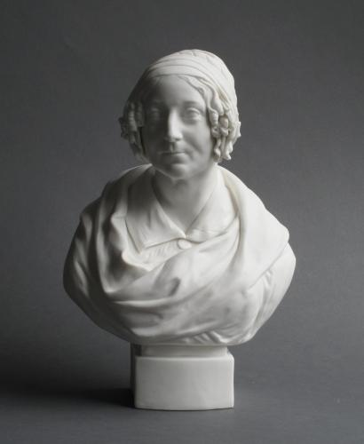 Parian bust of Harriet Martineau, John Rose