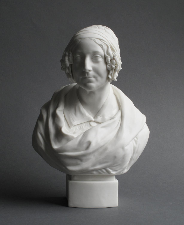 Parian bust of Harriet Martineau, John Rose