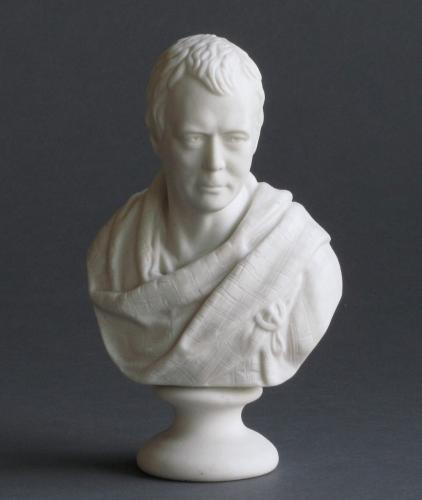 A small Goss Parian bust of Sir Walter Scott