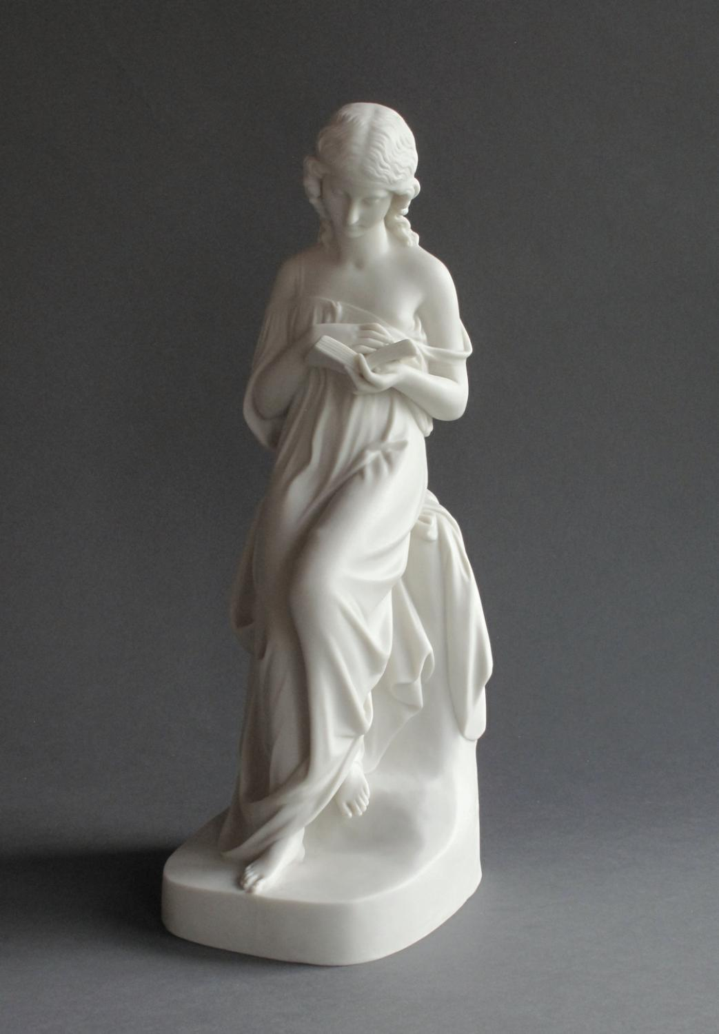 Good Copeland Parian figure of a reading girl
