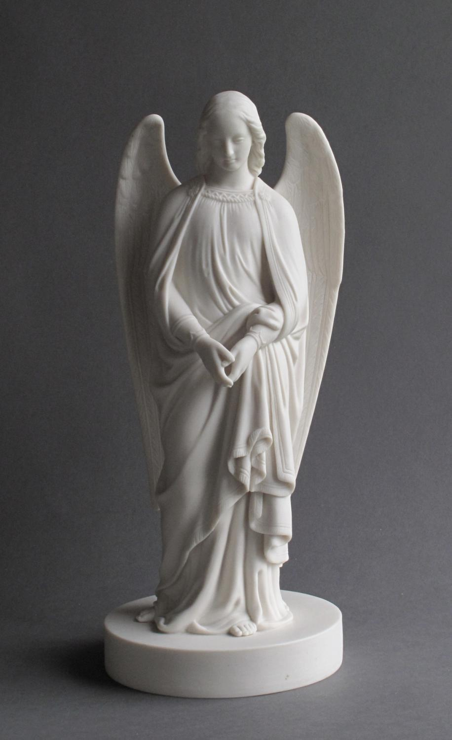 A good Minton Parian angel c1868