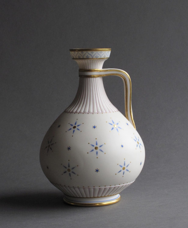 Good quality enamelled Parian jug