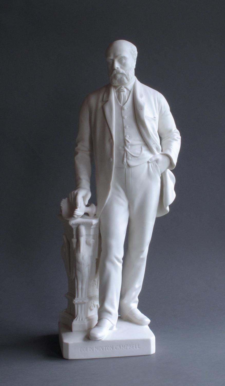 Minton Parian figure of C Minton Campbell