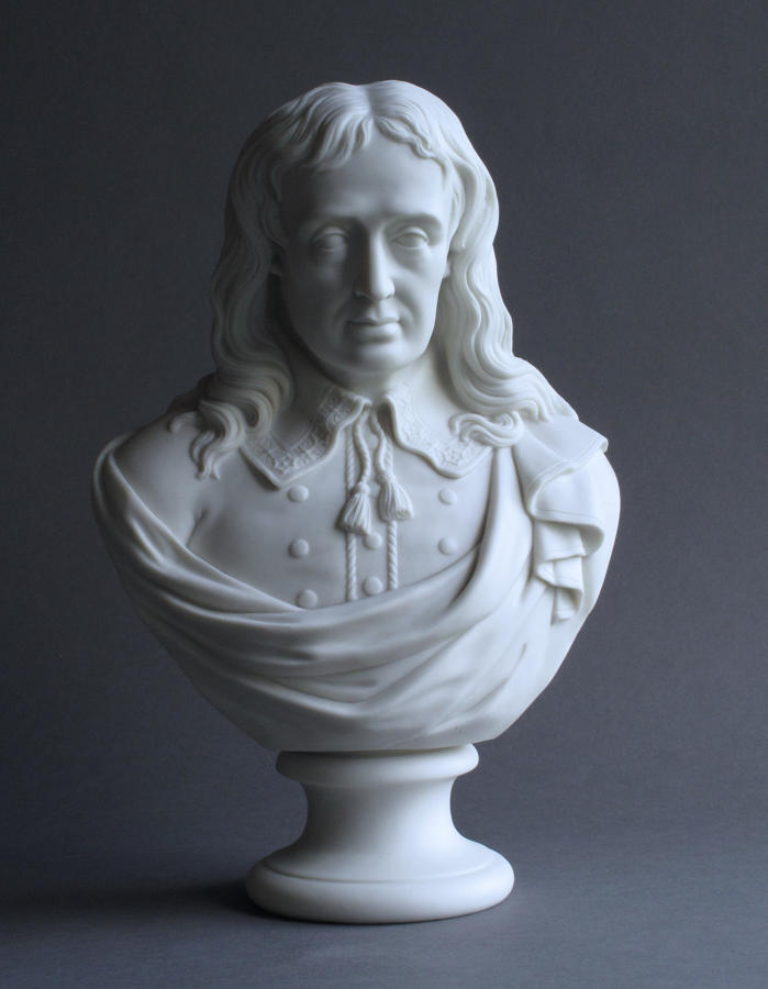 Parian bust of John Milton