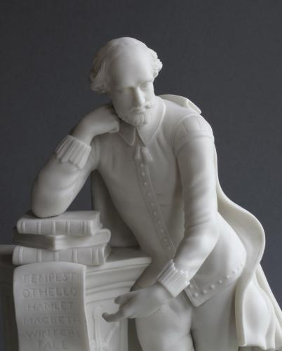 A good Parian figure of William Shakespeare
