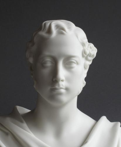 A Parian bust of the Prince of Wales