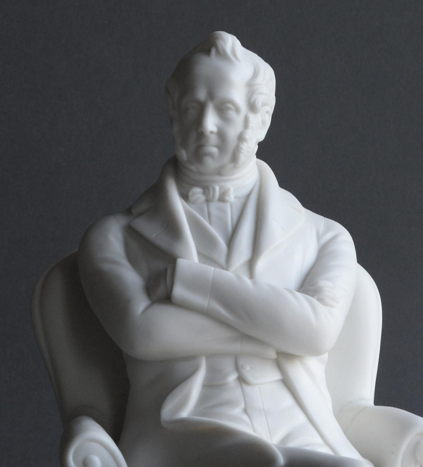 A Minton Parian figure of Lord Palmerston