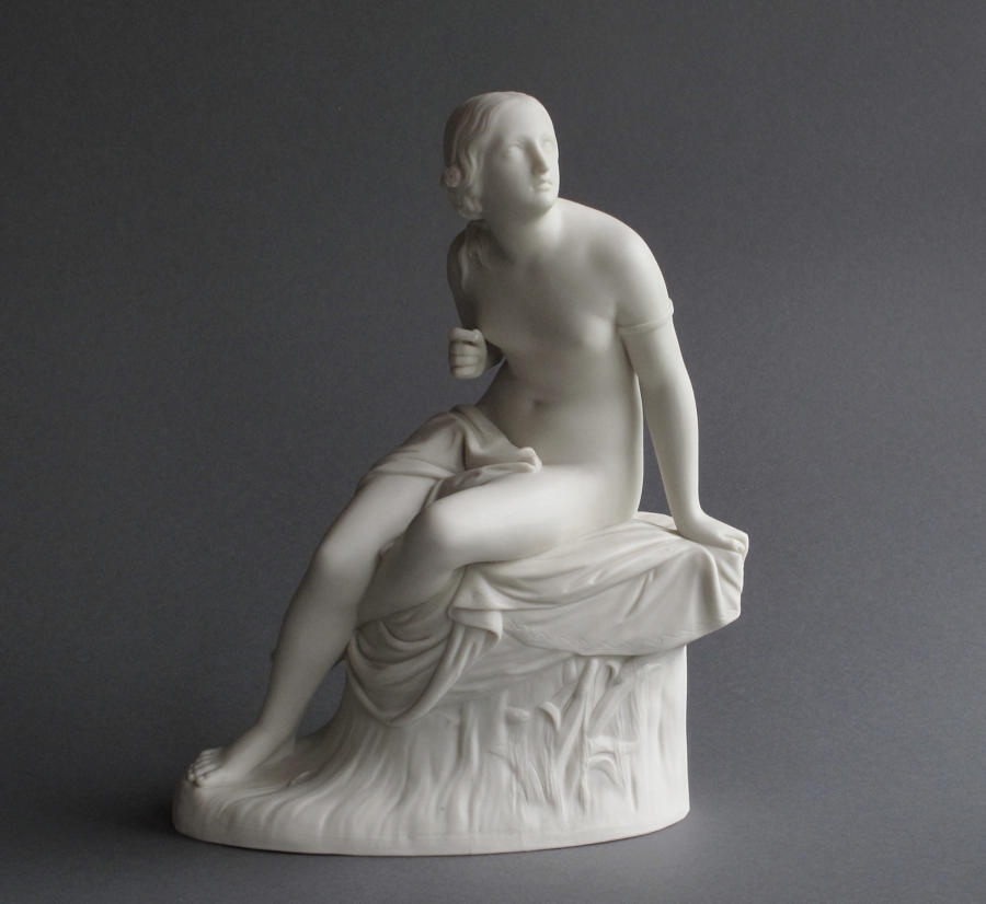 A Copeland Parian figure of Sabrina