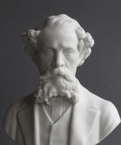 A good Parian bust of Charles Dickens