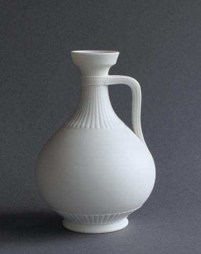 An elegant Parian jug or ewer by Minton