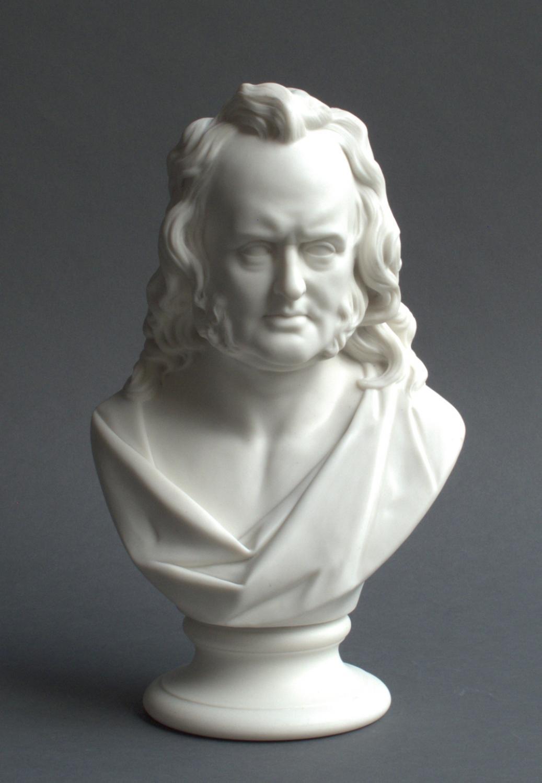 A Worcester Parian bust of Prof John Wilson