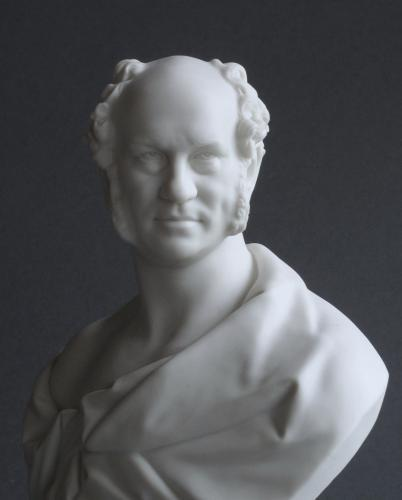 Parian bust of the engineer William Dargan