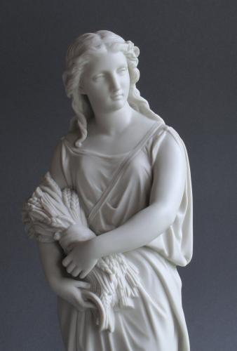 A large Copeland Parian figure of Autumn