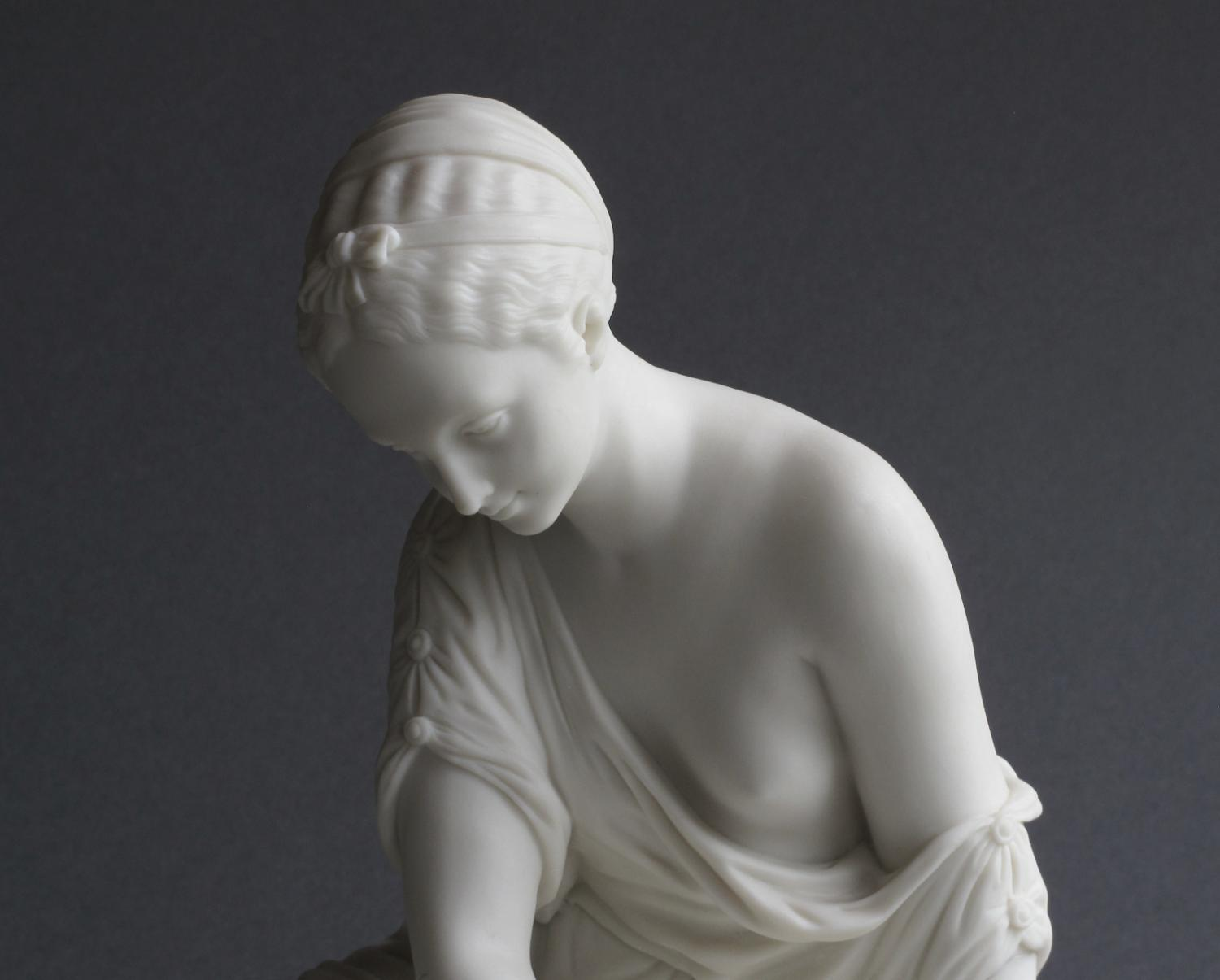 Copeland Parian figure: The Astragali Player