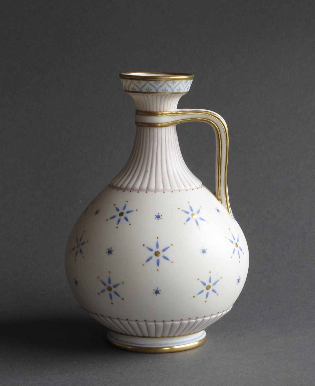 A good Parian handled jug of classical form
