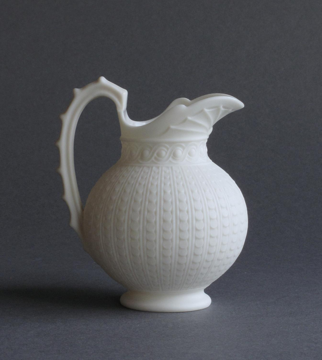 A charming small Copeland Parian jug or ewer