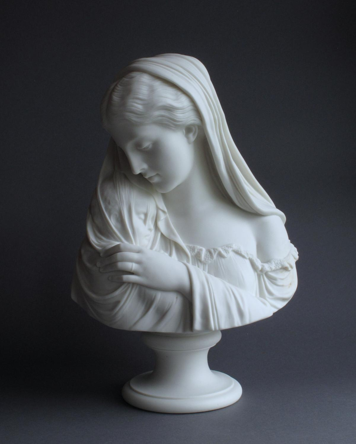 A Copeland Parian bust of The Mother