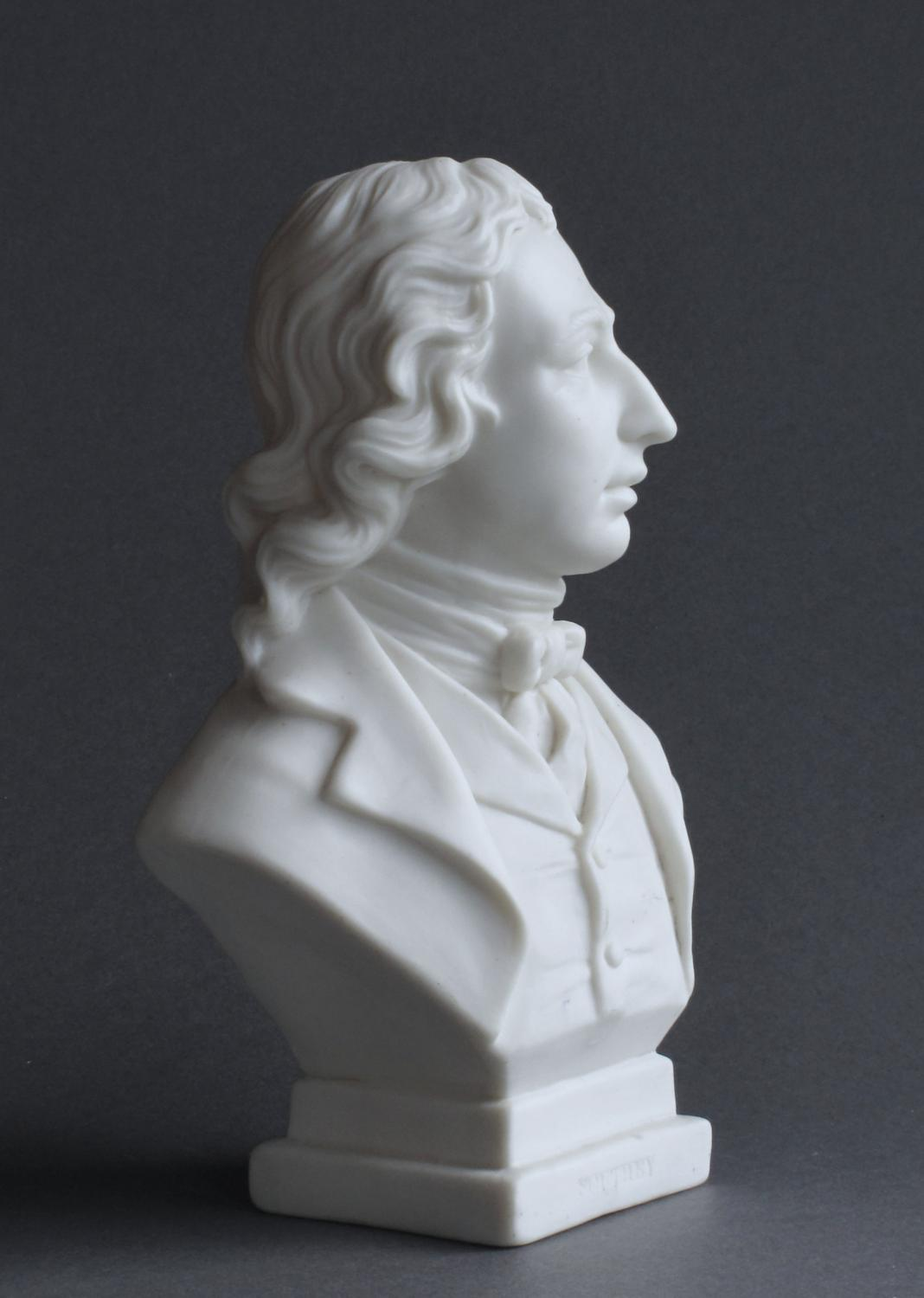 A small Goss Parian bust of Southey