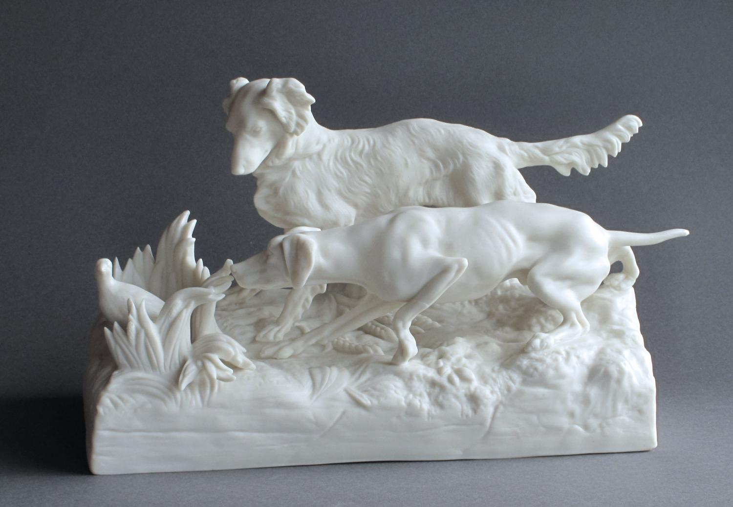 A Parian Dogs Group by Copeland