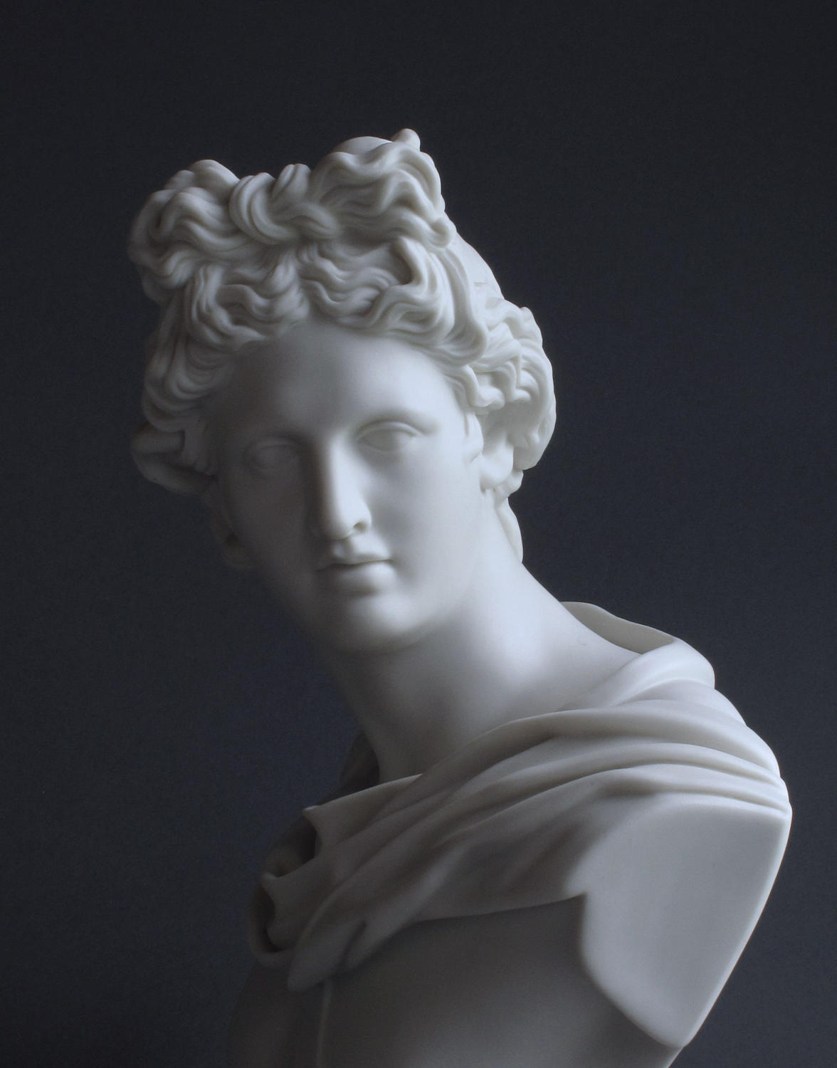 A good Parian bust of Apollo