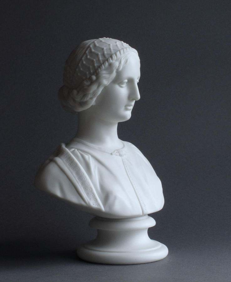 A Parian bust of a Renaissance Woman