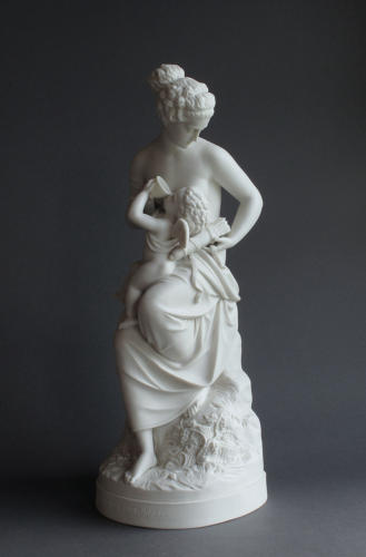 A Parian figure of Cupid Betrayed
