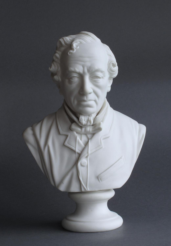A fine Parian bust of Disraeli