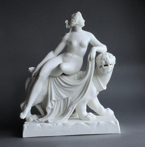 A Minton Parian figure of Ariadne and the Panther