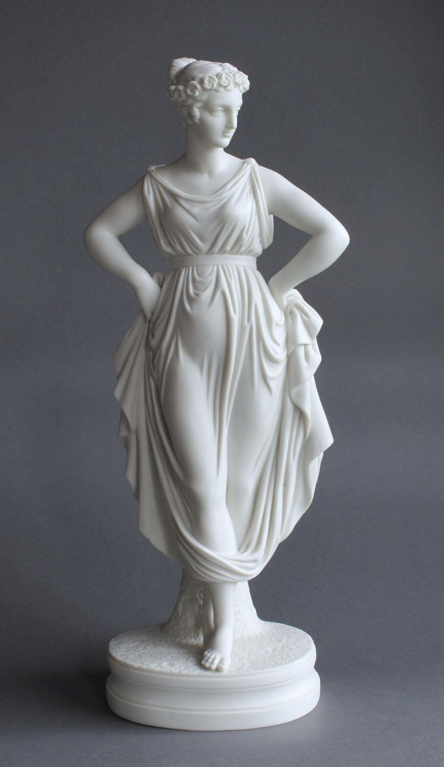 A Parian figure of the Dancing Girl from Canova
