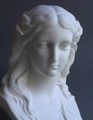 A Copeland Parian bust of Summer