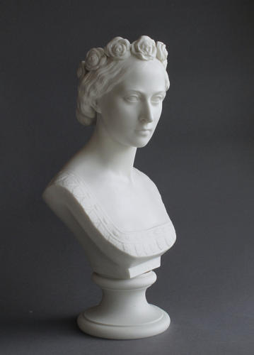 A rare Copeland Parian bust of Princess Alice