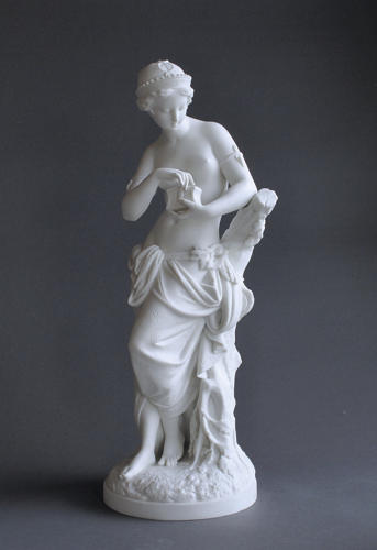 A Parian figure of Pandora by Minton