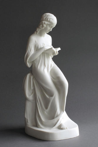 A Copeland Parian figure of the Reading Girl