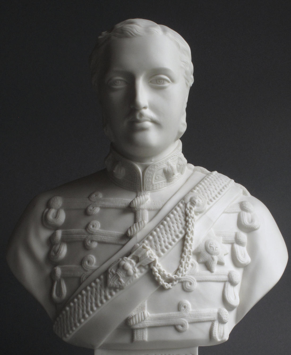 A large Parian bust of Albert Edward, Prince of Wales,  by Copeland