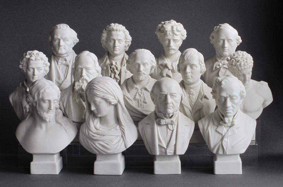 A group of R&L Parian busts