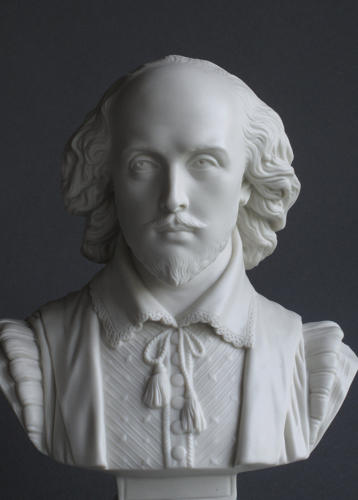 A fine Parian bust of Shakespeare by Copeland
