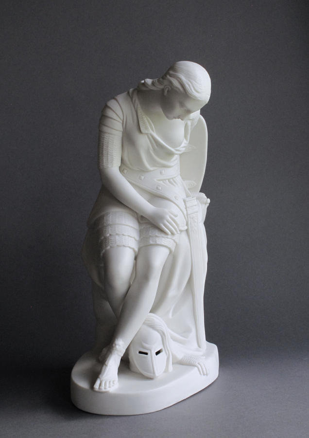A Minton Parian figure of Clorinda by John Bell
